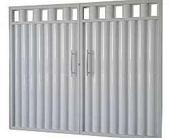Portão de alumínio social