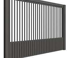 Portão de alumínio fechado