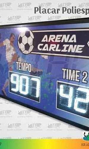 Placar eletrônico para futebol society