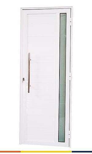 Porta de alumínio lambril liso