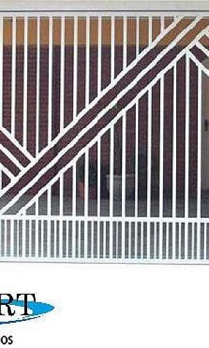 Portões galvanizado para garagem